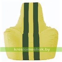 Кресло-мешок Спортинг жёлтый - тёмно-зелёный С1.1-452