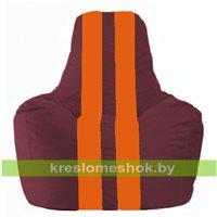 Кресло-мешок Спортинг бордовый - оранжевый С1.1-307