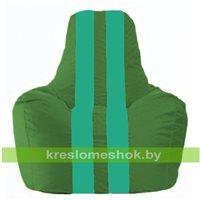 Кресло-мешок Спортинг зелёный - бирюзовый С1.1-243