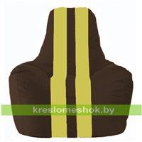 Кресло-мешок Спортинг коричневый - жёлтый С1.1-320