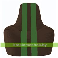 Кресло-мешок Спортинг коричневый - зелёный С1.1-321