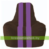 Кресло-мешок Спортинг коричневый - сиреневый С1.1-329