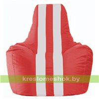 Кресло-мешок Спортинг красный - белый С1.1-181