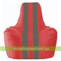 Кресло-мешок Спортинг красный - тёмно-серый С1.1-170