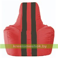 Кресло-мешок Спортинг красный - чёрный С1.1-455