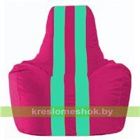 Кресло-мешок Спортинг лиловый - бирюзовый С1.1-383