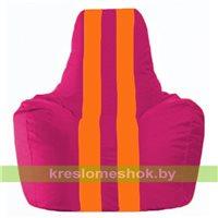Кресло-мешок Спортинг лиловый - оранжевый С1.1-388
