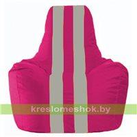 Кресло-мешок Спортинг лиловый - серый С1.1-374