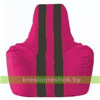 Кресло-мешок Спортинг лиловый - чёрный С1.1-381