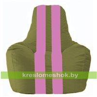 Кресло-мешок Спортинг оливковый - розовый С1.1-226