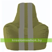 Кресло-мешок Спортинг оливковый - серый С1.1-224