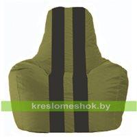 Кресло-мешок Спортинг оливковый - чёрный С1.1-460