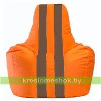Кресло-мешок Спортинг оранжевый - коричневый С1.1-218