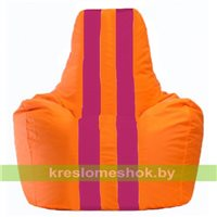 Кресло-мешок Спортинг оранжевый - лиловый С1.1-221