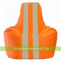 Кресло-мешок Спортинг оранжевый - светло-бежевый С1.1-207