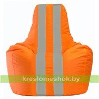 Кресло-мешок Спортинг оранжевый - серый С1.1-214