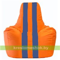 Кресло-мешок Спортинг оранжевый - синий С1.1-213