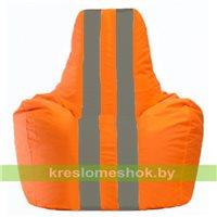 Кресло-мешок Спортинг оранжевый - тёмно-серый С1.1-210