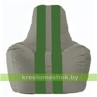 Кресло-мешок Спортинг серый - зелёный С1.1-339