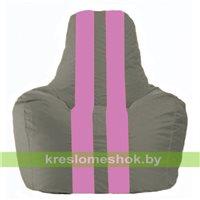 Кресло-мешок Спортинг серый - розовый С1.1-333