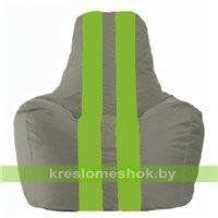 Кресло-мешок Спортинг серый - салатовый С1.1-343