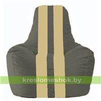 Кресло-мешок Спортинг тёмно-серый - светло-бежевый С1.1-365