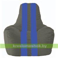 Кресло-мешок Спортинг тёмно-серый - синий С1.1-367