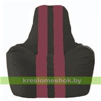 Кресло-мешок Спортинг чёрный - бордовый С1.1-394