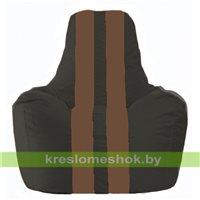 Кресло-мешок Спортинг чёрный - коричневый С1.1-398