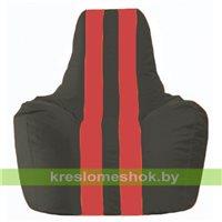 Кресло-мешок Спортинг чёрный - красный С1.1-467