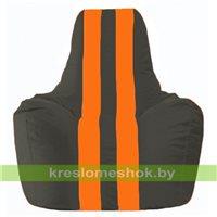 Кресло-мешок Спортинг чёрный - оранжевый С1.1-400