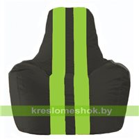 Кресло-мешок Спортинг чёрный - салатовый С1.1-466