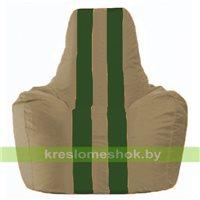 Кресло мешок Спортинг бежевый - тёмно-зелёный С1.1-83