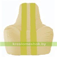 Кресло мешок Спортинг светло-бежевый - жёлтый С1.1-148
