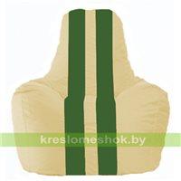 Кресло мешок Спортинг светло-бежевый - зелёный С1.1-147
