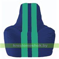 Кресло мешок Спортинг синий - бирюзовый С1.1-124
