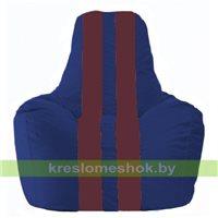 Кресло мешок Спортинг синий - бордовый С1.1-123
