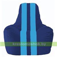 Кресло мешок Спортинг синий - голубой С1.1-129