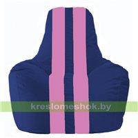 Кресло мешок Спортинг синий - розовый С1.1-120
