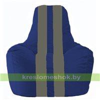 Кресло мешок Спортинг синий - серый С1.1-139
