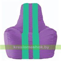 Кресло мешок Спортинг сиреневый - бирюзовый С1.1-112