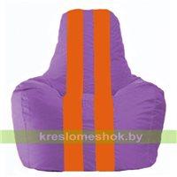 Кресло мешок Спортинг сиреневый - оранжевый С1.1-110