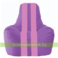 Кресло мешок Спортинг сиреневый - розовый С1.1-109