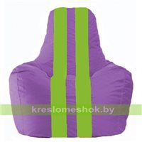 Кресло мешок Спортинг сиреневый - салатовый С1.1-108