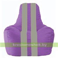 Кресло мешок Спортинг сиреневый - серый С1.1-106