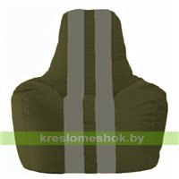 Кресло мешок Спортинг тёмно-оливковый - серый С1.1-53