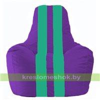 Кресло мешок Спортинг фиолетовый - бирюзовый С1.1-75