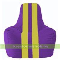 Кресло мешок Спортинг фиолетовый - жёлтый С1.1-35