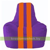 Кресло мешок Спортинг фиолетовый - оранжевый С1.1-33