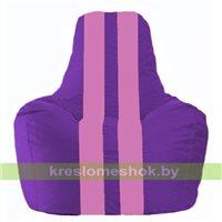 Кресло мешок Спортинг фиолетовый - розовый С1.1-32